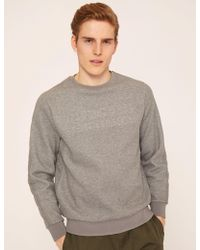 Armani Exchange - Debossed Logo Grid Sweatshirt - Lyst