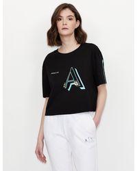 Armani Exchange Camiseta gráfica - Negro