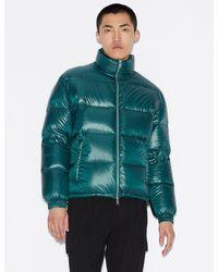 Armani Exchange Duck Down Puffer Jacket - Green