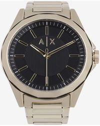 Armani Exchange - Black And Gold-toned Bracelet Watch - Lyst
