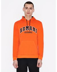 Armani Exchange - Hooded Sweatshirt - Lyst