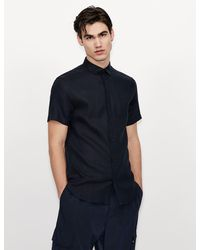 Armani Exchange Einfaches Hemd - Blau
