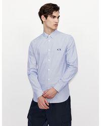 Armani Exchange - Camisa de rayas - Lyst
