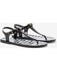 Armani Exchange Pvc Flip Flops - Black