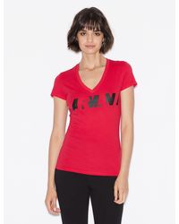 Armani Exchange Logo T-shirt - Red