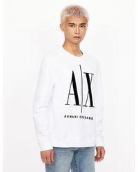 Armani Exchange Icon Sweatshirt White