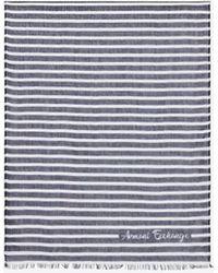 Armani Exchange Striped Shawl - Black