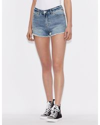 Armani Exchange J59 Icon Logo Shorty Shorts - Blue