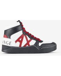 Armani Exchange Leather High-top Trainer - Multicolour