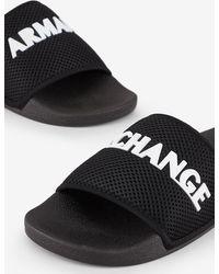 Armani Exchange Sandalia de dedo - Negro