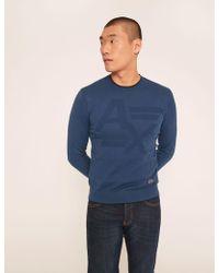 251f7fac712f6 Lyst - Armani Exchange Tonal Diamond-stitch Sweater in Black for Men