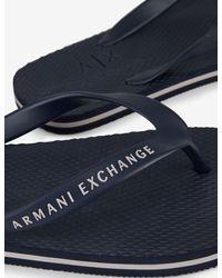 Armani Exchange CHANCLAS - Azul
