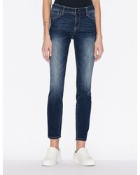 Armani Exchange J01 Super-skinny Jeans - Blue