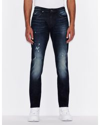 Armani Exchange J22 Tapered Jeans - Blue
