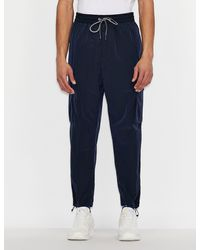 Armani Exchange - Pantaloni in nylon ripstop - Lyst