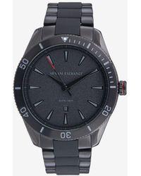 Armani Exchange Quartz Three Hands Stainless Steel Watch - Black