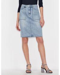 Armani Exchange Denim Skirt - Blue