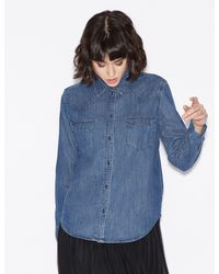 Armani Exchange Denim Shirt - Blue