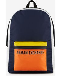 Armani Exchange - Backpack With Contrasting Details - Lyst