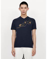 Armani Exchange Camiseta gráfica - Azul
