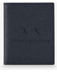 Armani Exchange Credit Card Holder - Blue