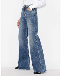 Armani Exchange J47 Super Wide LEGGED Jeans - Blue