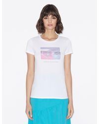 Armani Exchange - Graphic T-shirt - Lyst