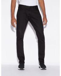 Armani Exchange - Slim-fit Five-pocket Jeans - Lyst