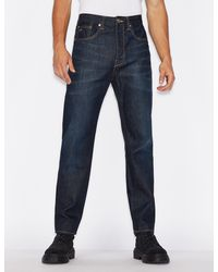 Armani Exchange Ergonomic Tapered Jeans - Blue