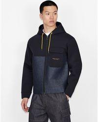 Armani Exchange Streetwear-Top - Blau