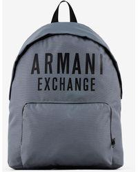 Armani Exchange Logo Plate Backpack - Blue