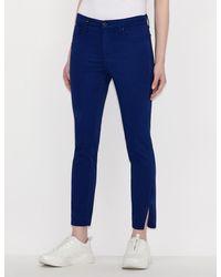 Armani Exchange J22 Super Skinny Capri Jeans With Slit - Blue