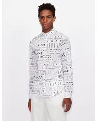 Armani Exchange Printed Shirt - White