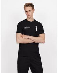Armani Exchange T-shirt con stampa - Nero