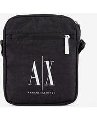 Armani Exchange Messenger Bag - Schwarz