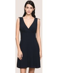 Armani Exchange - Ruched Detail Fit-and-flare - Lyst