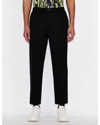 Armani Exchange Cropped Pants - Black