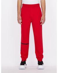 Armani Exchange Sportliche Hose mit Kontrastdetails - Rot
