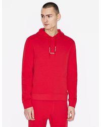 Armani Exchange Sudadera con capucha - Rojo