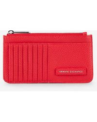 Armani Exchange Faux-leather Card Holder - Red