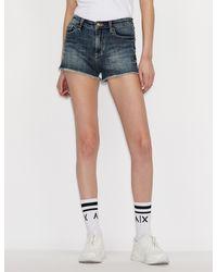 Armani Exchange J59 Short Shorts - Blue