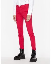 Armani Exchange Super Skinny Jeans - Rot