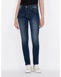 Armani Exchange J01 Super Skinny Jeans - Blue