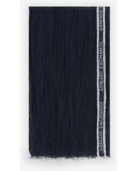 Armani Exchange Sciarpa in lino - Blu
