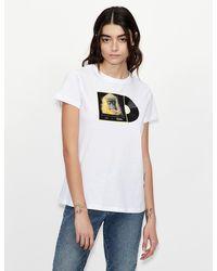 Armani Exchange Camiseta regular fit - Blanco