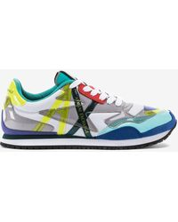 Armani Exchange - Sneakers With Glossy Inserts - Lyst