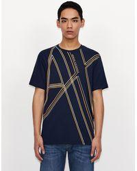 Armani Exchange Camiseta con logotipo - Azul