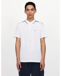 Armani Exchange Short Sleeves Polo - White