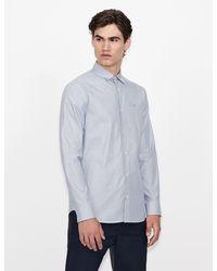 Armani Exchange Camicia con Stampa - Blu