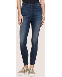 Armani Exchange - High-rise Indigo Super-skinny Stretch Jeans - Lyst